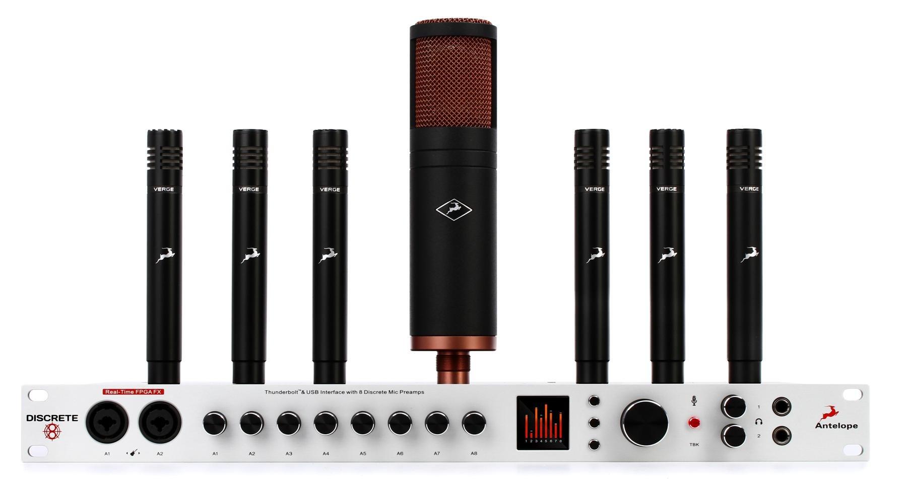 Antelope Audio Discrete 8 Great Microphone Bundle