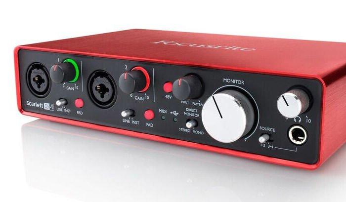 Focusrite Scarlett 2i4 USB Audio Interface   Sweetwater