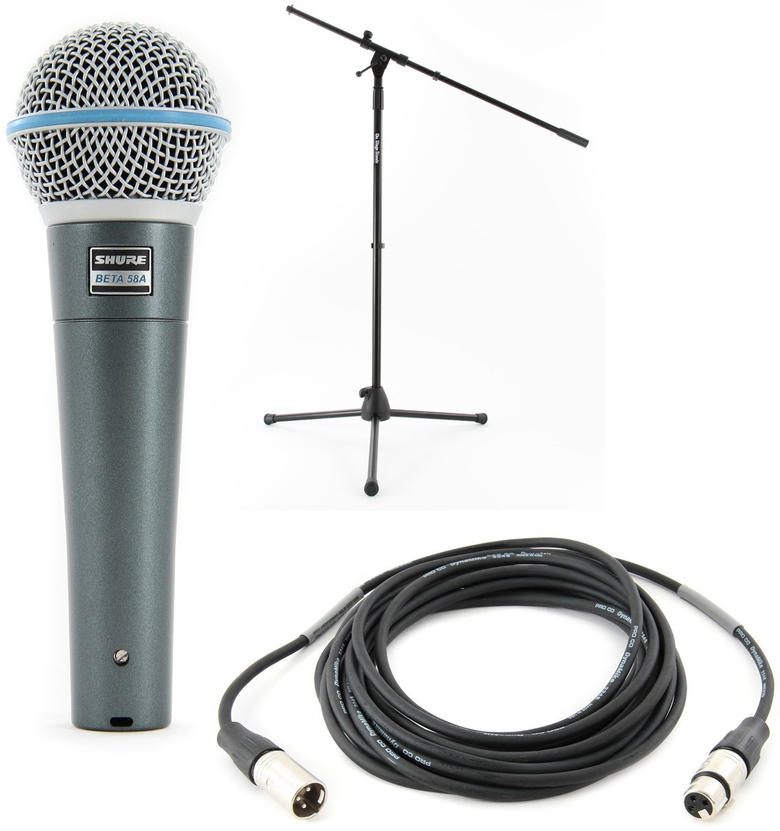 Shure Beta 58a With Stand Cable Mic Month Bundle Sweetwater Image 1