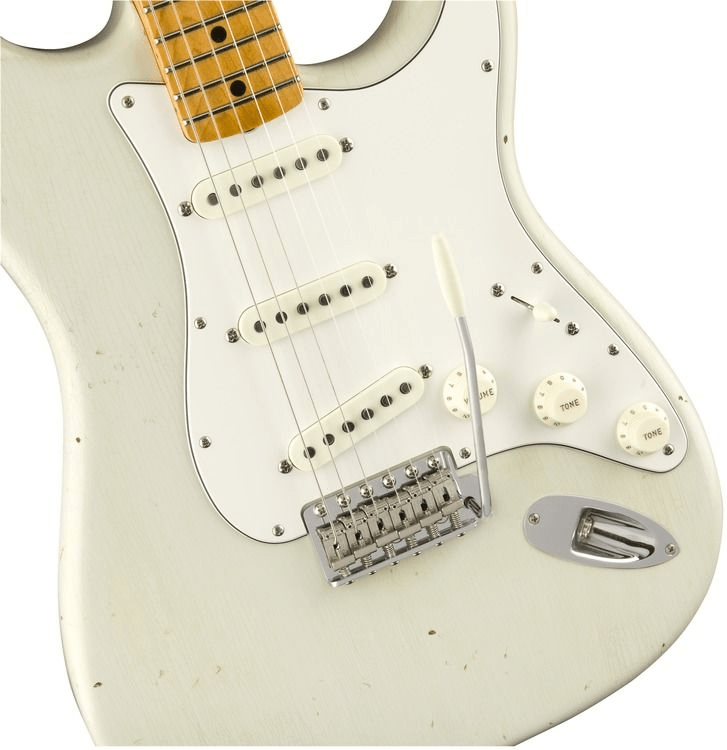 7664ba 1510682805 gtr frtbdydtl 001 nr - Fender Custom Shop Jimi Hendrix Voodoo Child Stratocaster, Journeyman Relic Olympic White