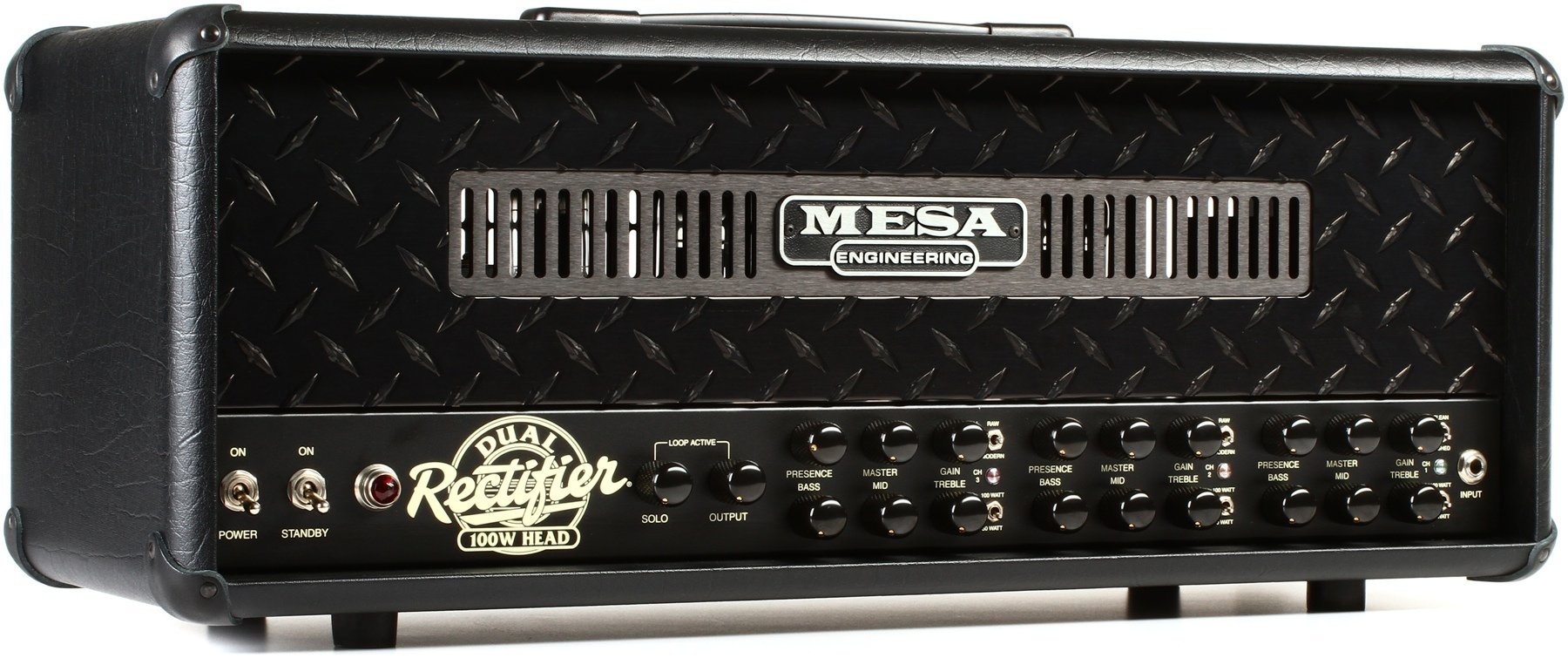 Mesa Boogie Dual Rectifier 100 Watt Tube Head Blacked Out Jack Plate With Switch For Use Cabinets And More Image