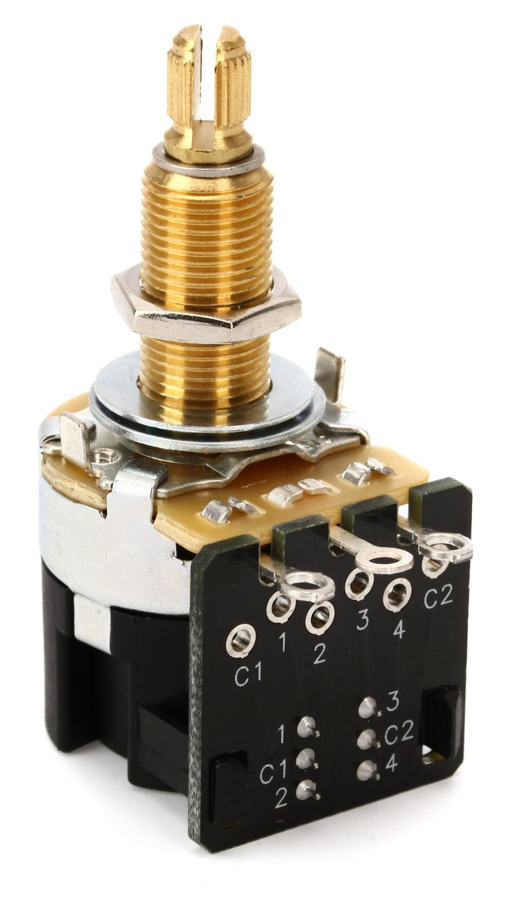 Mojo Tone Cts Push Pull Potentiometer Short Shaft 500k Sweetwater Schaller 3way Switch Wiring Long