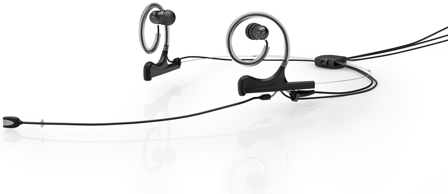 Dpa Dfine 4188 Dual In Ear Broadcast Headset Microphone With Mono Jack Wiring Microdot Connector