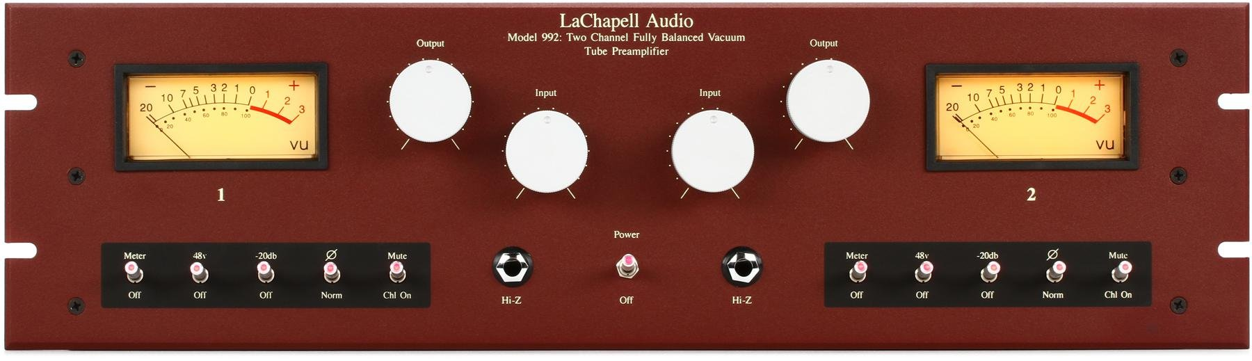 Lachapell Audio 992eg Sweetwater Vacuum Tube Microphone Preamp Image 1