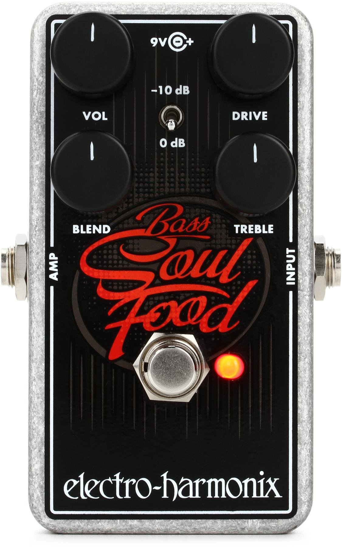 Electro Harmonix Bass Big Muff Pi Fuzz Pedal Sweetwater Box Distortion 8211 Guitar Effect Soul Food Transparent Overdrive