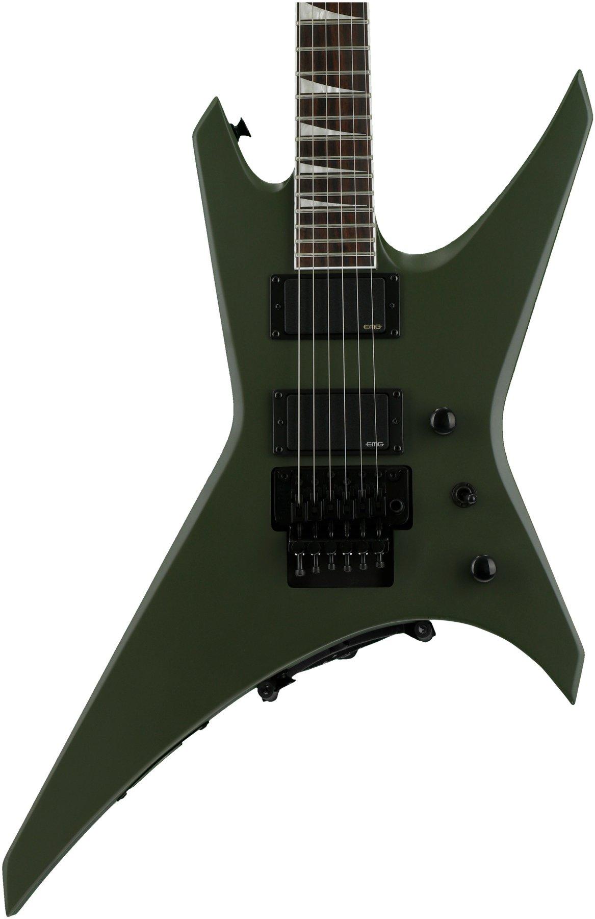 Jackson Wrxmg X Series Warrior Matte Army Drab Sweetwater Guitar With Emg Pickup Wiring Image 1