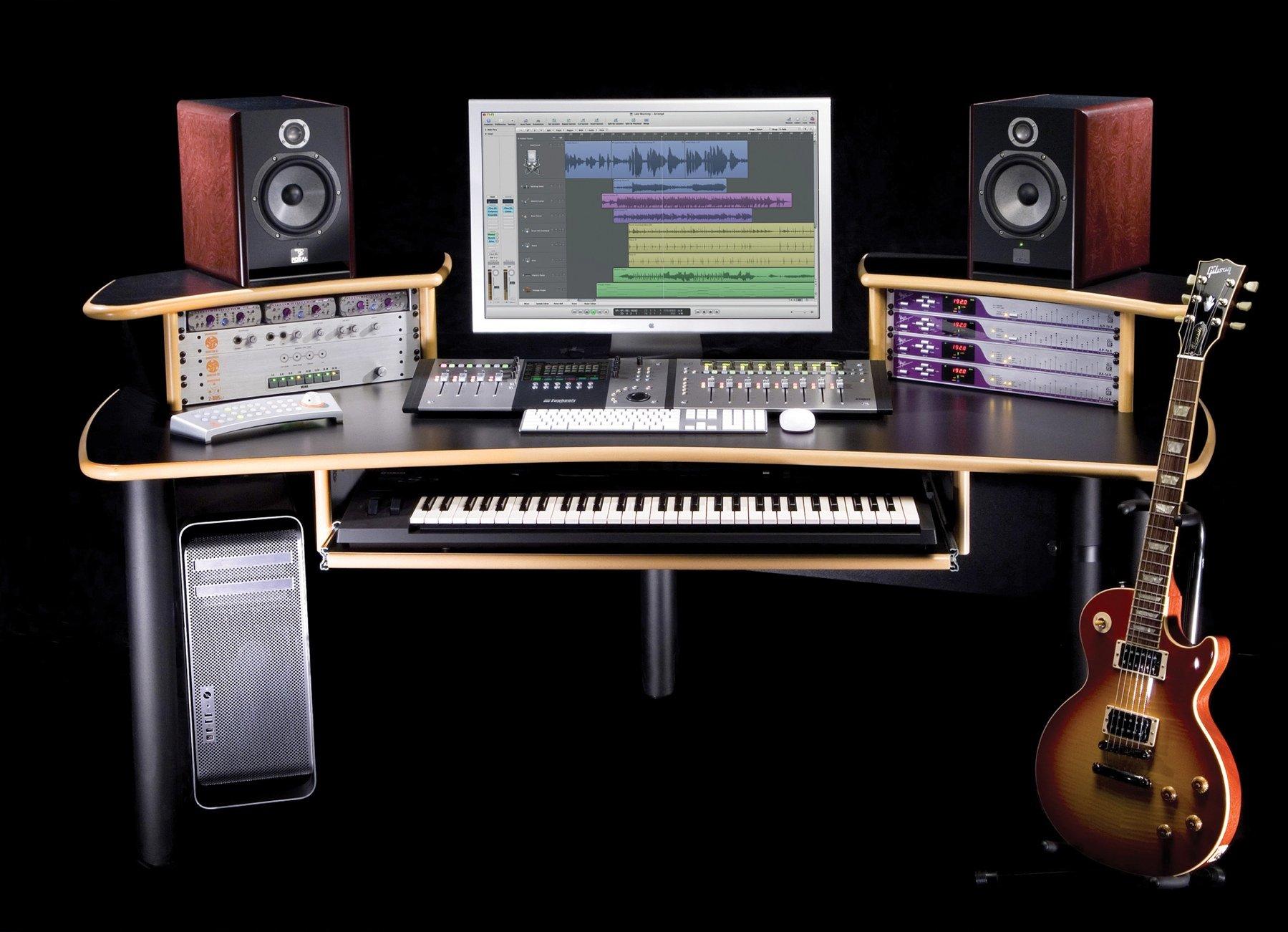 KK Audio A1 Edit Desk Black w Lite Edge