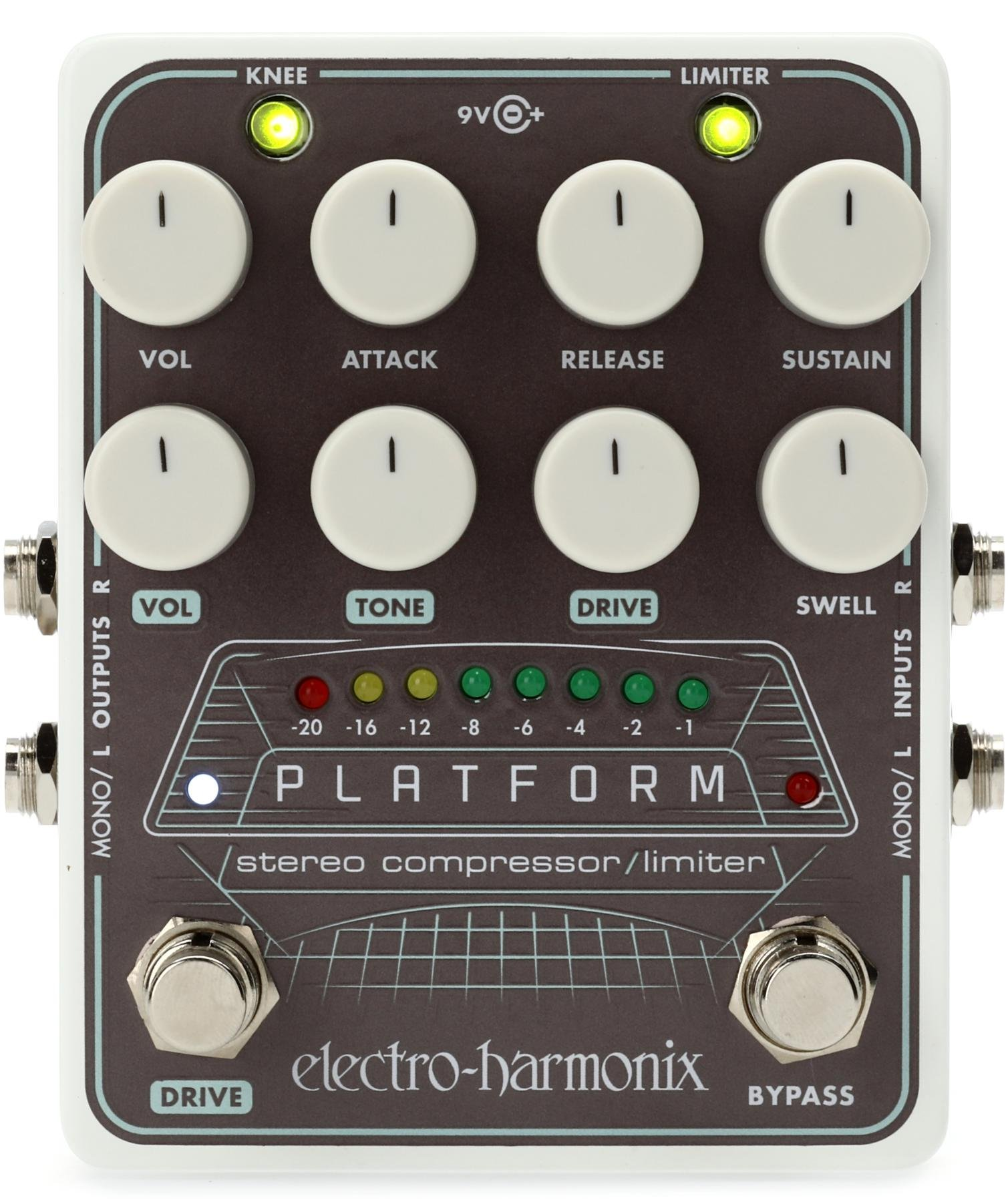 Electro Harmonix Platform Stereo Compressor Pedal Sweetwater Noise Limiter Circuit Image 1