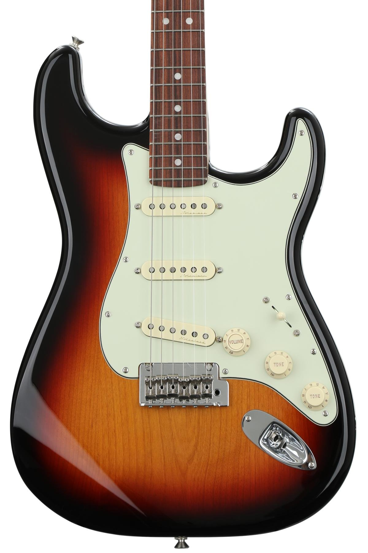 Fender Deluxe Roadhouse Strat 3 Color Sunburst W Pau Ferro Nasville Telecaster Wiring Diagram Power Fingerboard Image 1