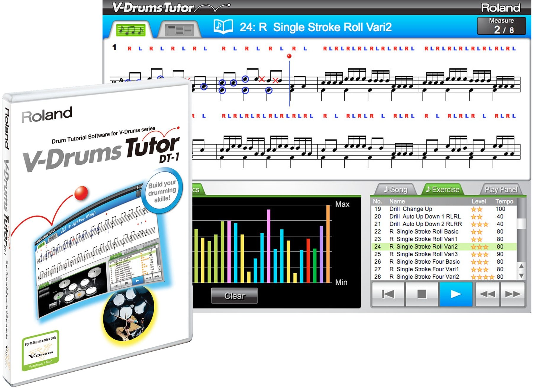 dt 1 v drums tutor free download