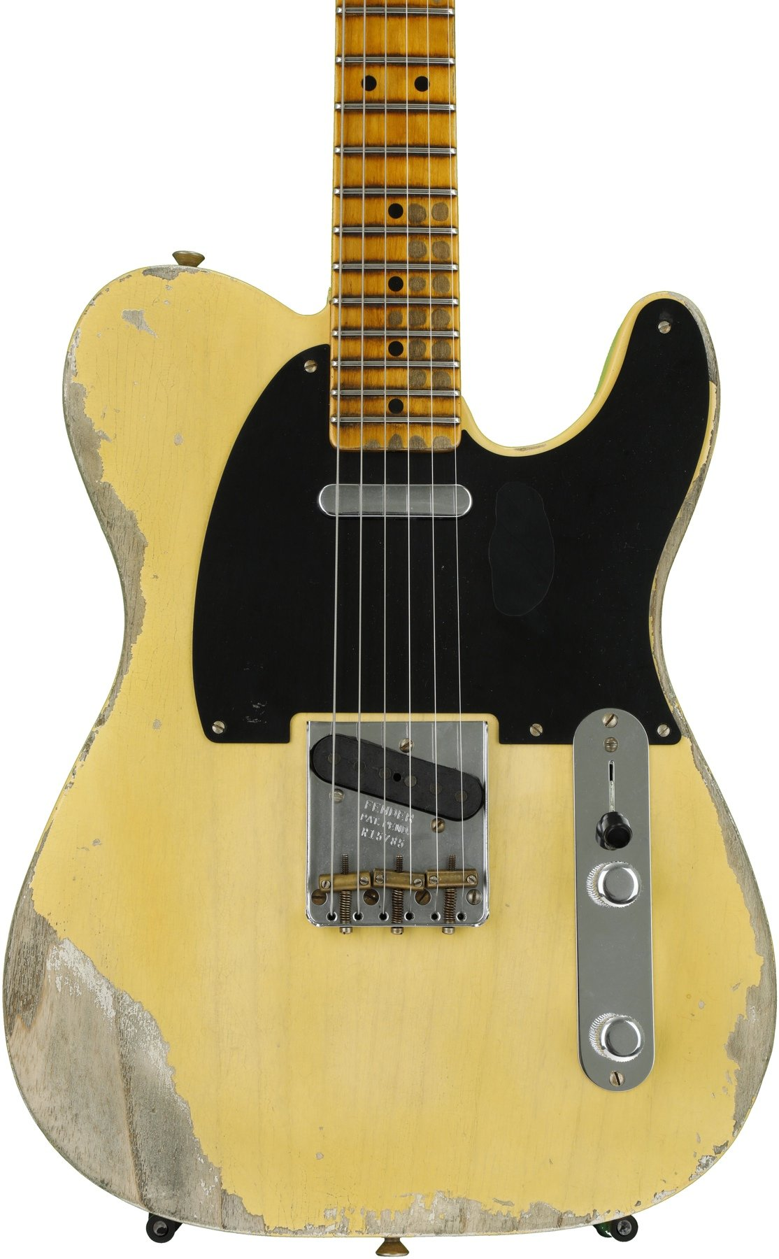 Fender Custom Shop 1951 Time Machine Heavy Relic Telecaster Faded Pickup Wiring Stack Nocaster Blonde Image 1