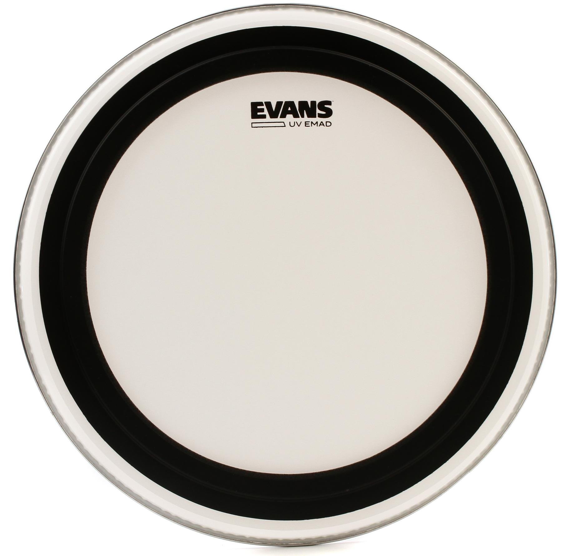 22 Inch Evans UV EMAD Coated Bass Head