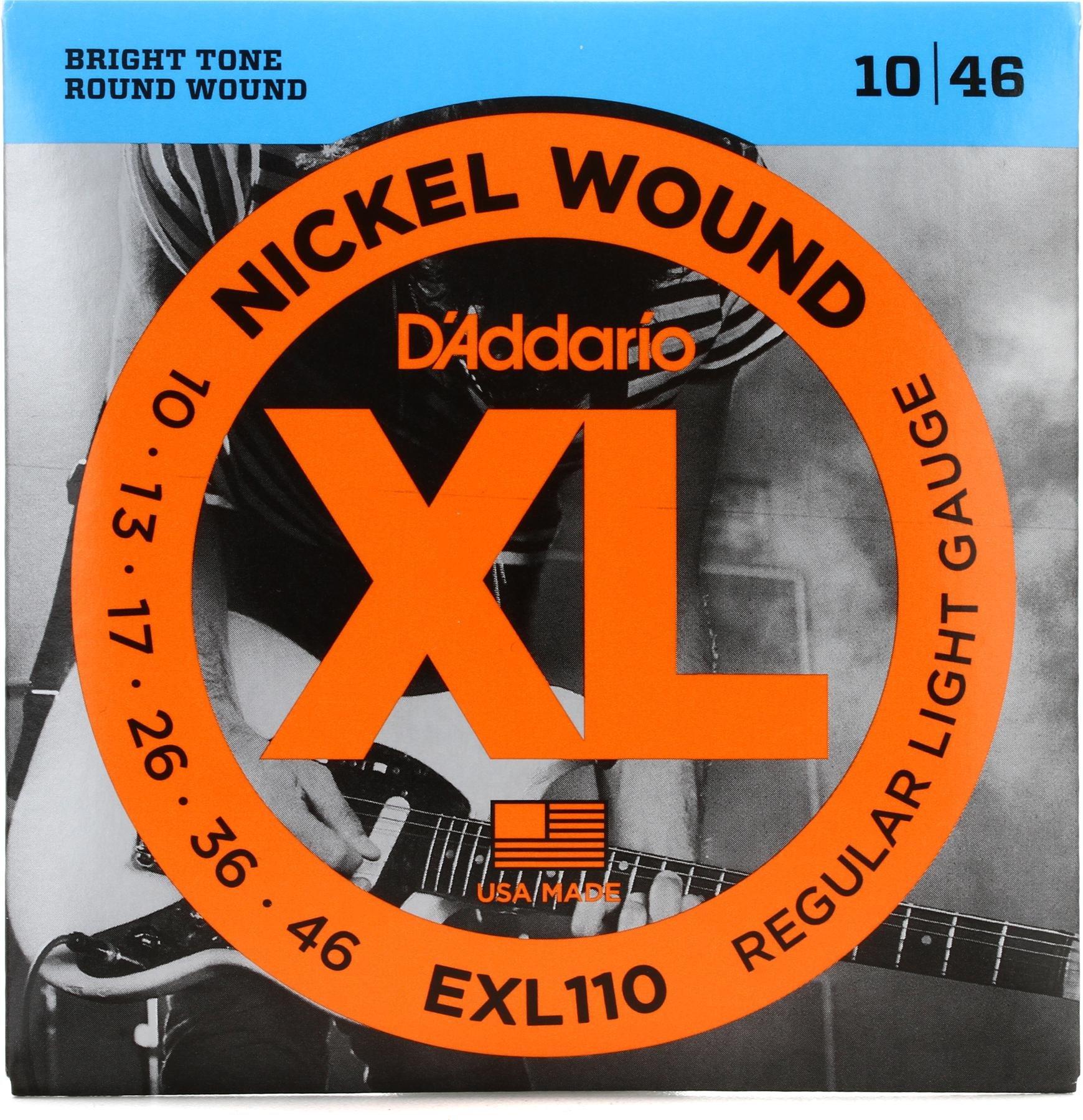 Ernie Ball 2221 Reguläre Slinky Nickel E-Gitarre Saiten 10-4