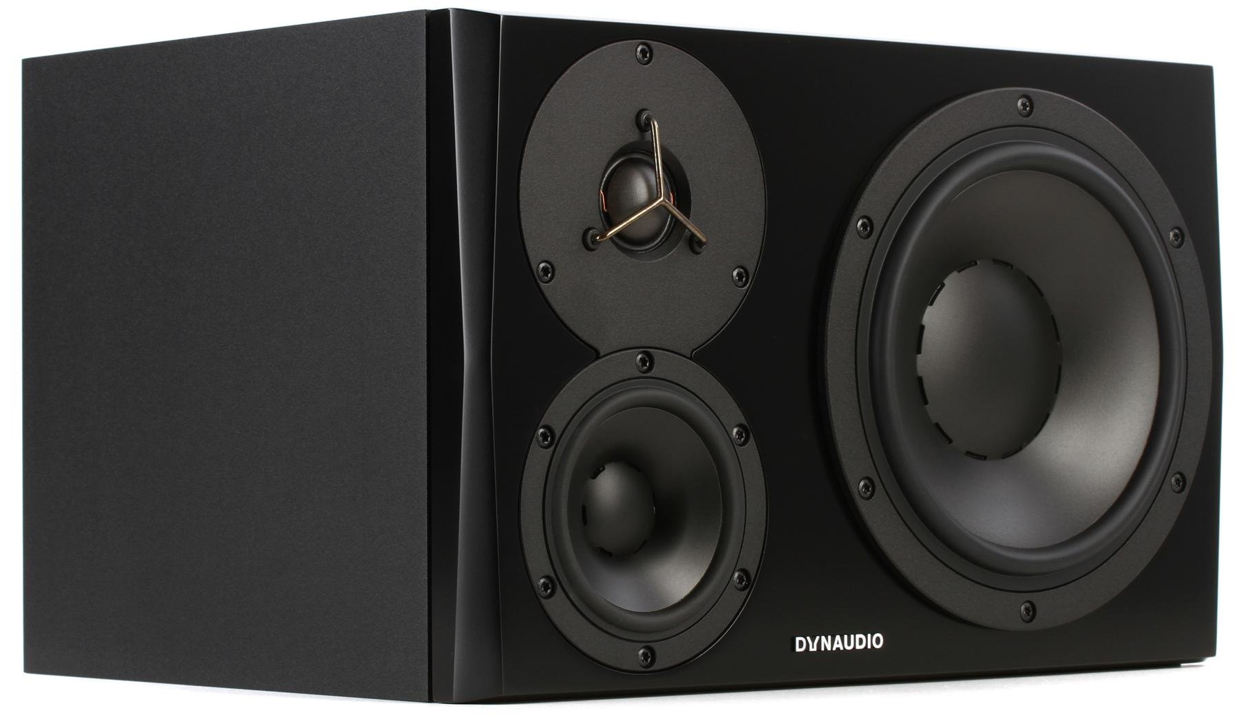 Dynaudio LYD 48 3-way Powered Studio Monitor (Left Side) - Black image