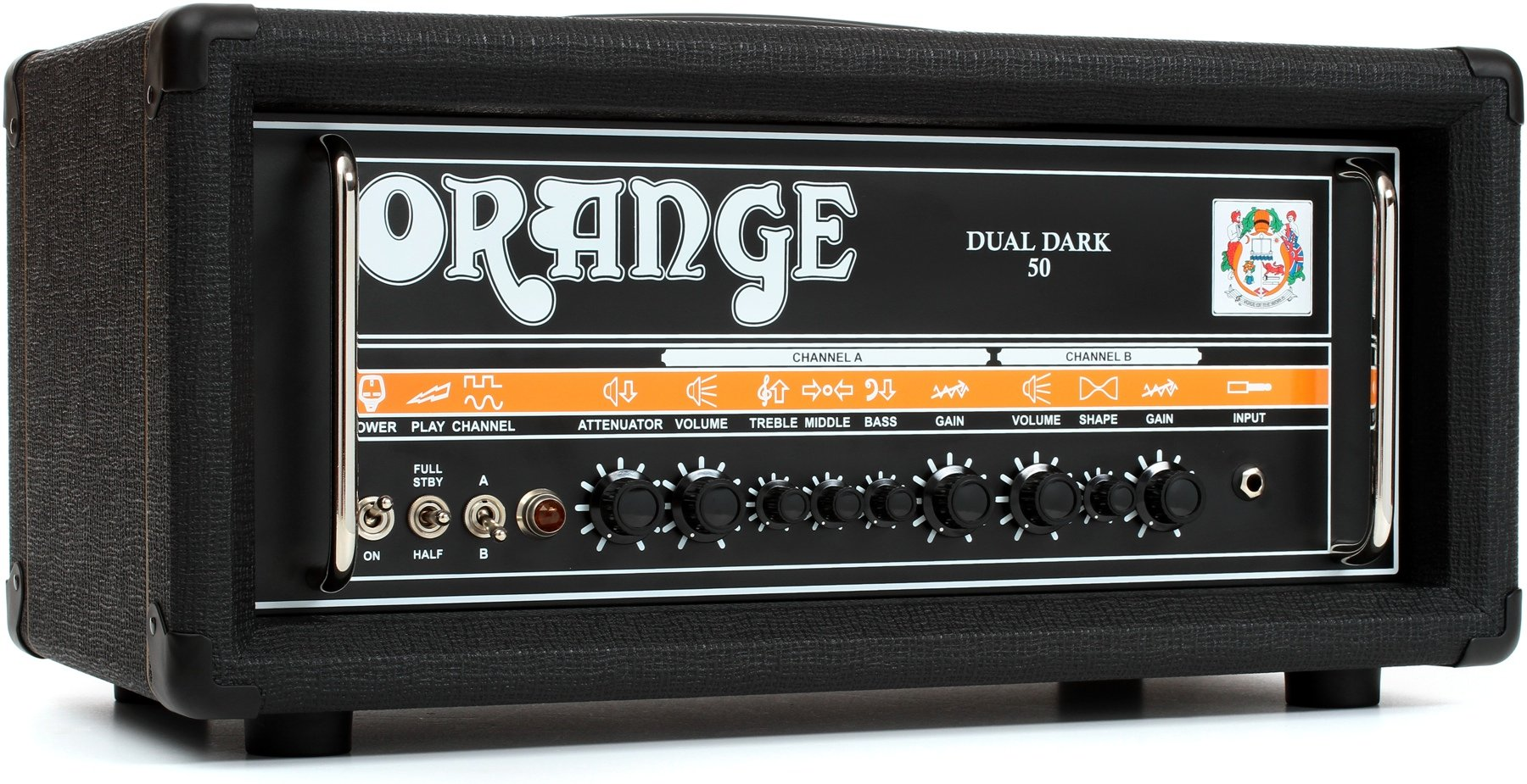 Orange Dual Dark 50 25 Watt Class A B 2 Channel High Gain Tube Power Amplifier