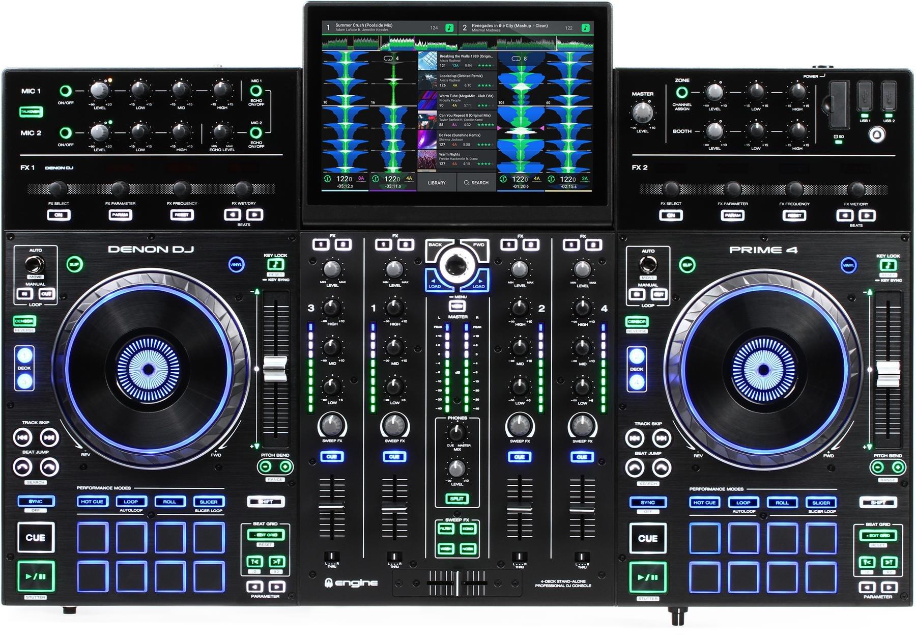 Denon DJ PRIME 4 Standalone DJ System with FREE USB Flash Drive +