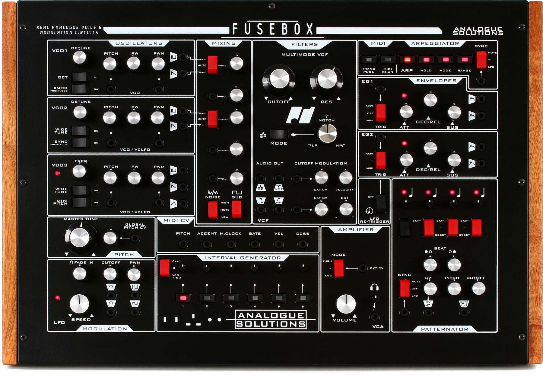 Analogue Solutions Fusebox Synthesizer With Patternator Limited Fuse Box Processor Edition Black Image 1