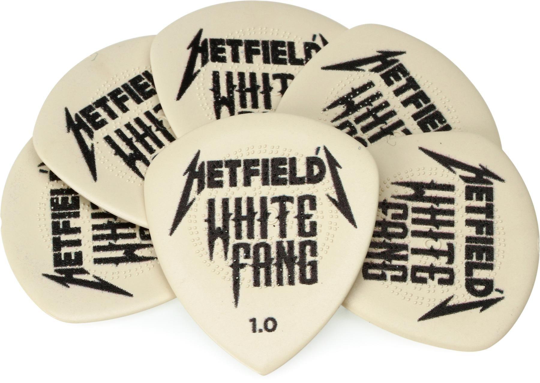 1,00 mm weiß 6x Dunlop Hetfield White Fang Ultex