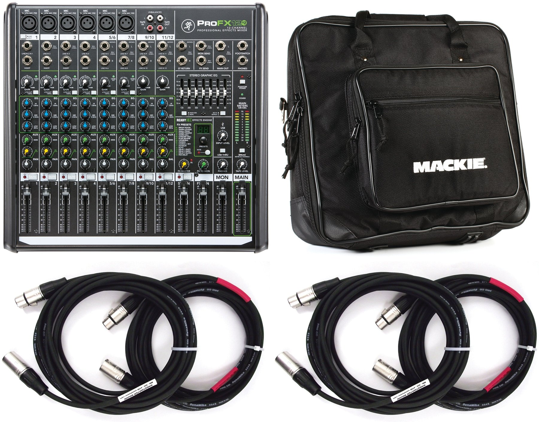 Mackie Profx12v2 Mixer With Usb And Effects Sweetwater Profx8 V2