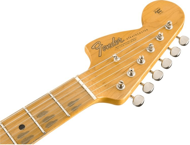 b511d4 1510682805 gtr hdstckfrt 001 nr - Fender Custom Shop Jimi Hendrix Voodoo Child Stratocaster, Journeyman Relic Olympic White