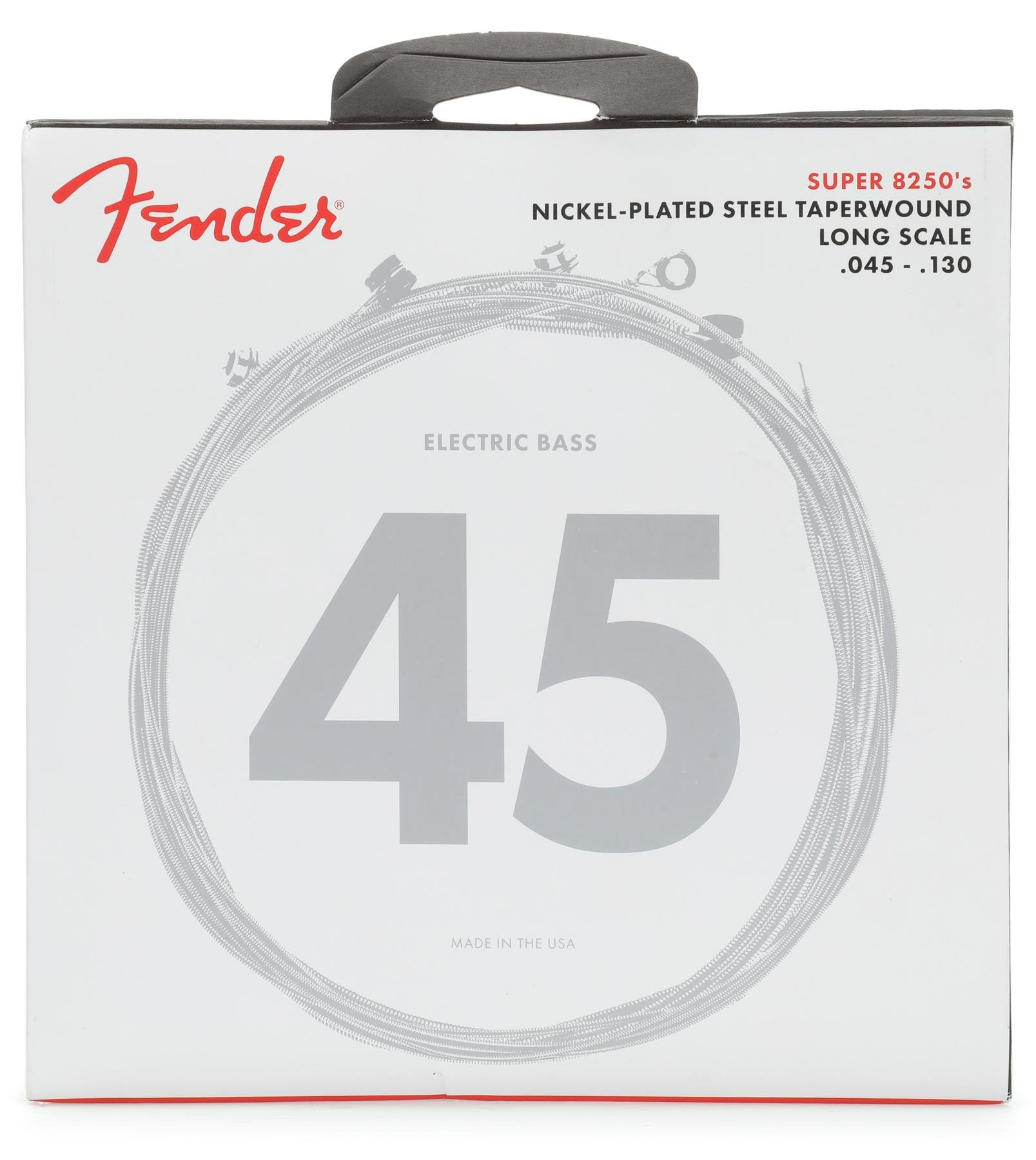 Fender 82505M Taperwound Electric Bass Strings Long Scale 5-STRING MEDIUM 45-130