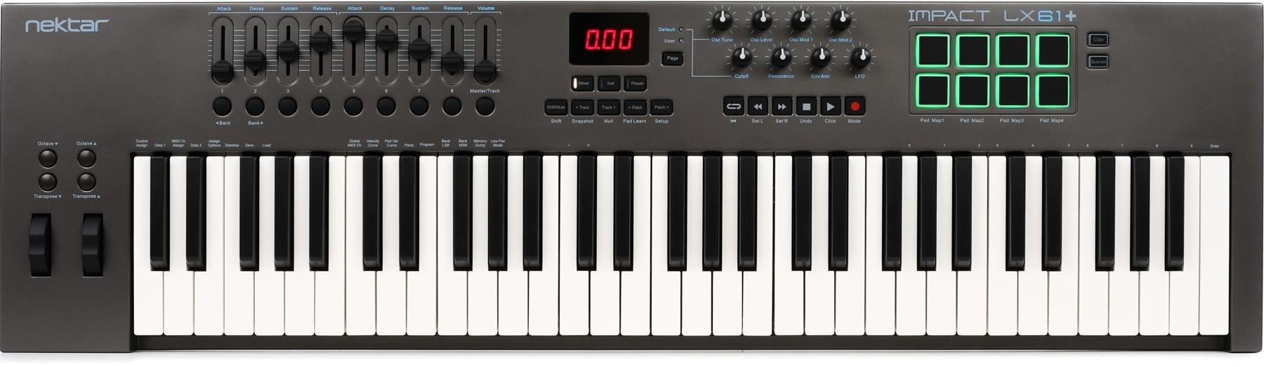 Nektar Impact LX61+ 61-key Keyboard Controller | Sweetwater