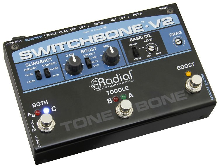 Radial Switchbone V2 ABY/C Amp Selector and Booster ...