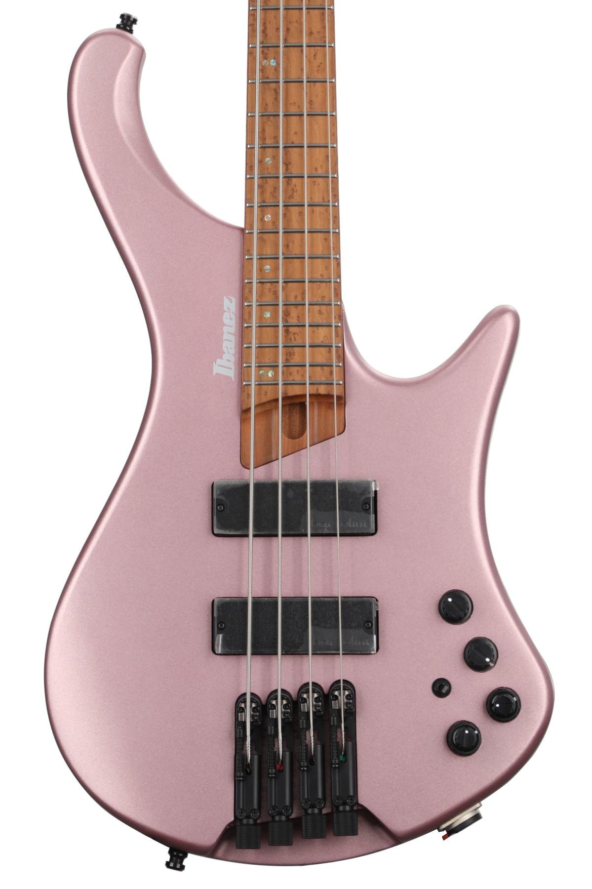 Ibanez Bass Workshop Ehb1000s Bass Guitar Pink Gold Metallic Matte Sweetwater