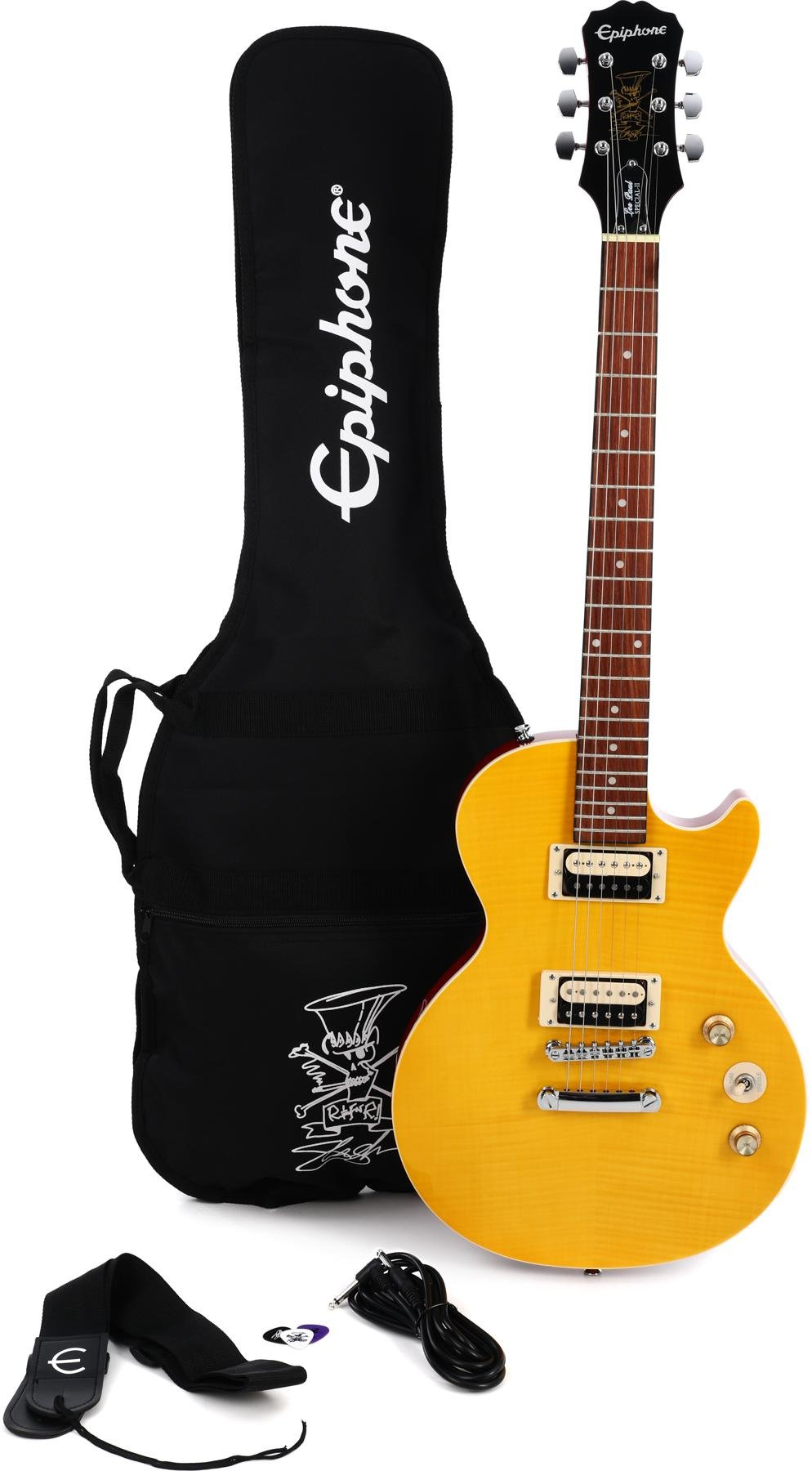 Epiphone Slash Afd Les Paul Special Ii Outfit Appetite Amber Options For Wiring Humbuckers Boxofknobs