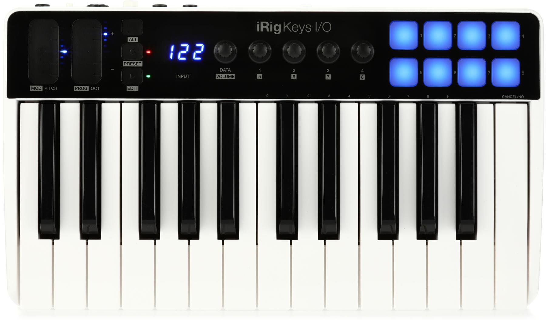 IK Multimedia iRig Keys I/O 25 Keyboard Controller with Audio Interface for  iOS, Mac/PC | Sweetwater
