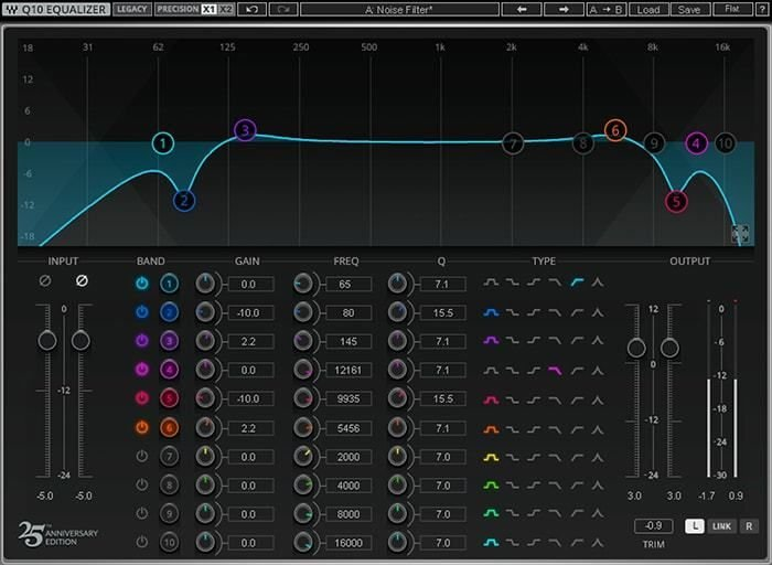 Waves Q10 Equalizer Plug-in | Sweetwater