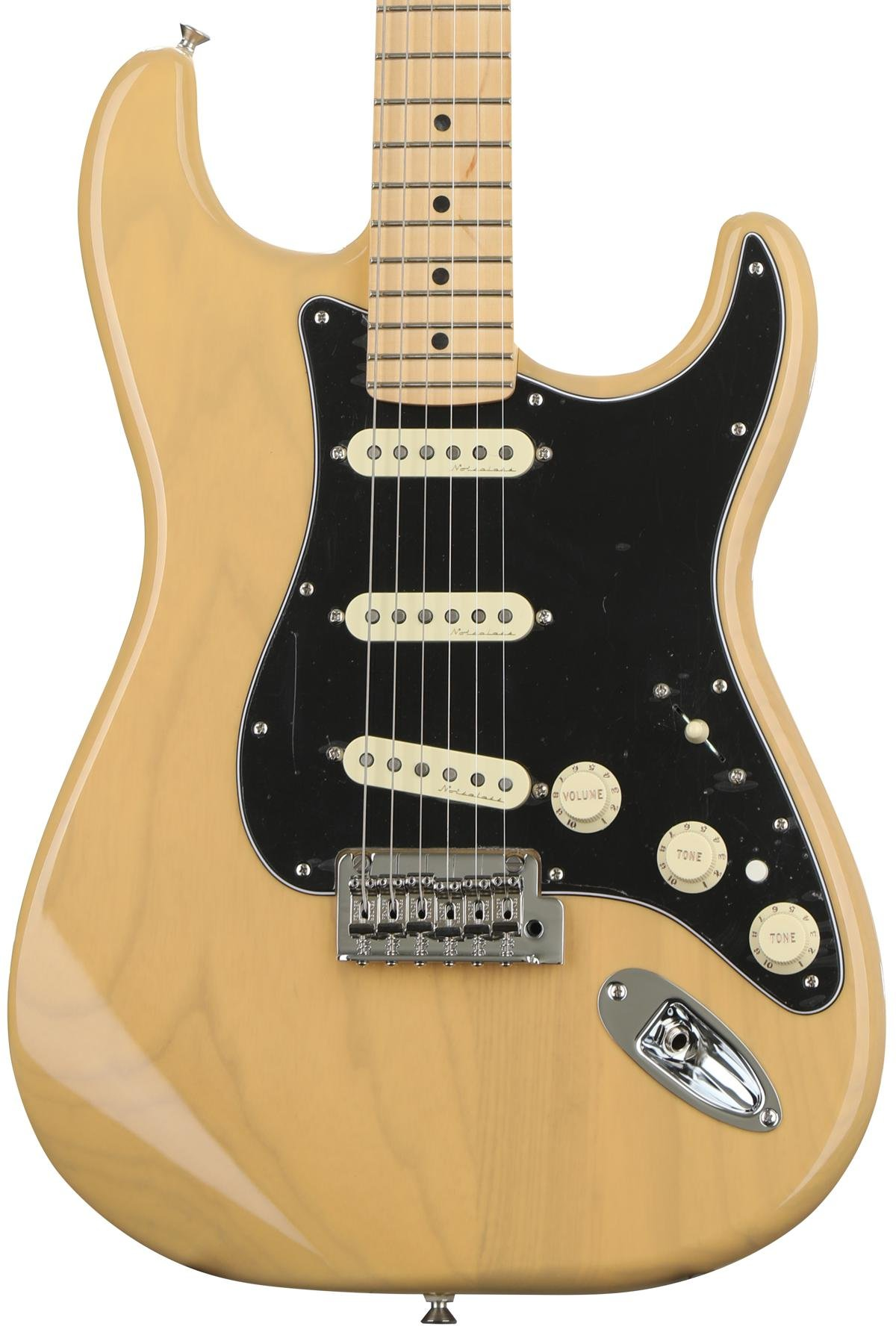 Fender Deluxe Stratocaster Vintage Blonde W Maple Fingerboard Guitar Wiring Actual Image 1