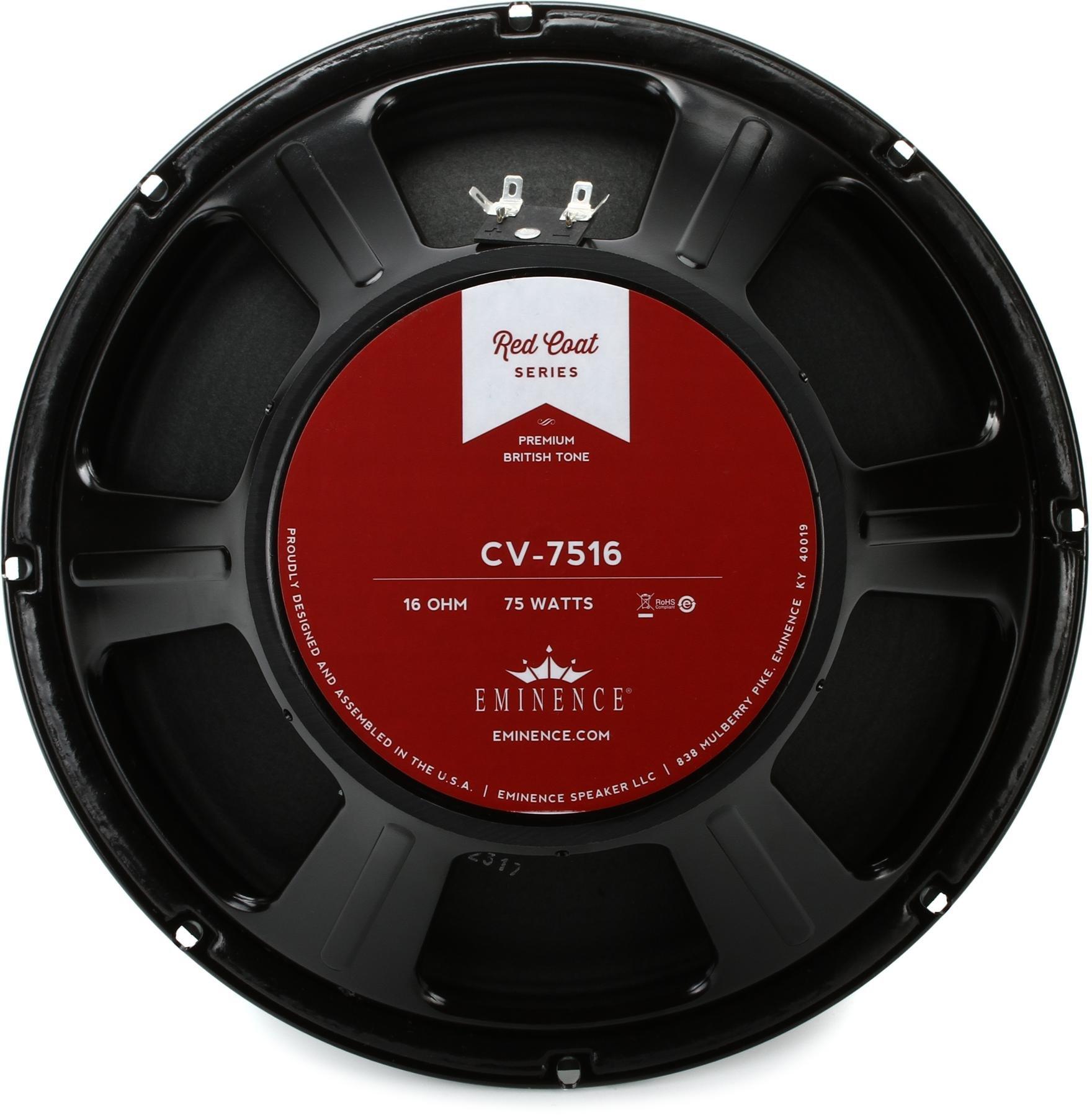 Eminence CV7516 Redcoat Series 12-Inch 75-Watt 16-Ohm Speaker