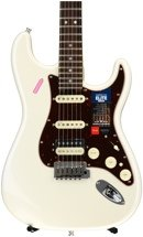 Fender American Elite Stratocaster HSS Shawbucker - Olympic Pearl with Rosewood Fingerboard