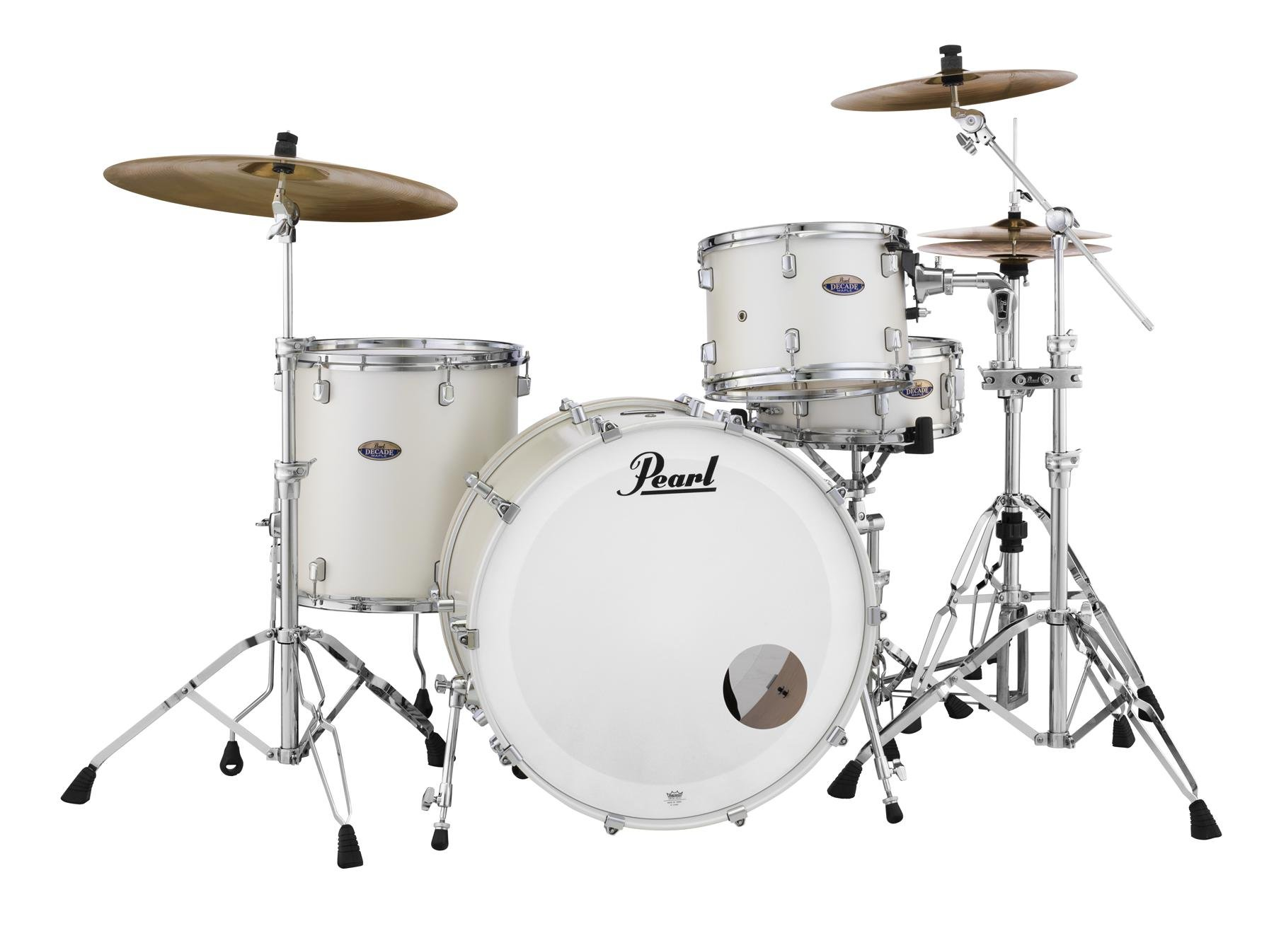 Pearl Decade Maple Dmp943xp C 3 Piece Shell Pack White Satin Pearl Sweetwater