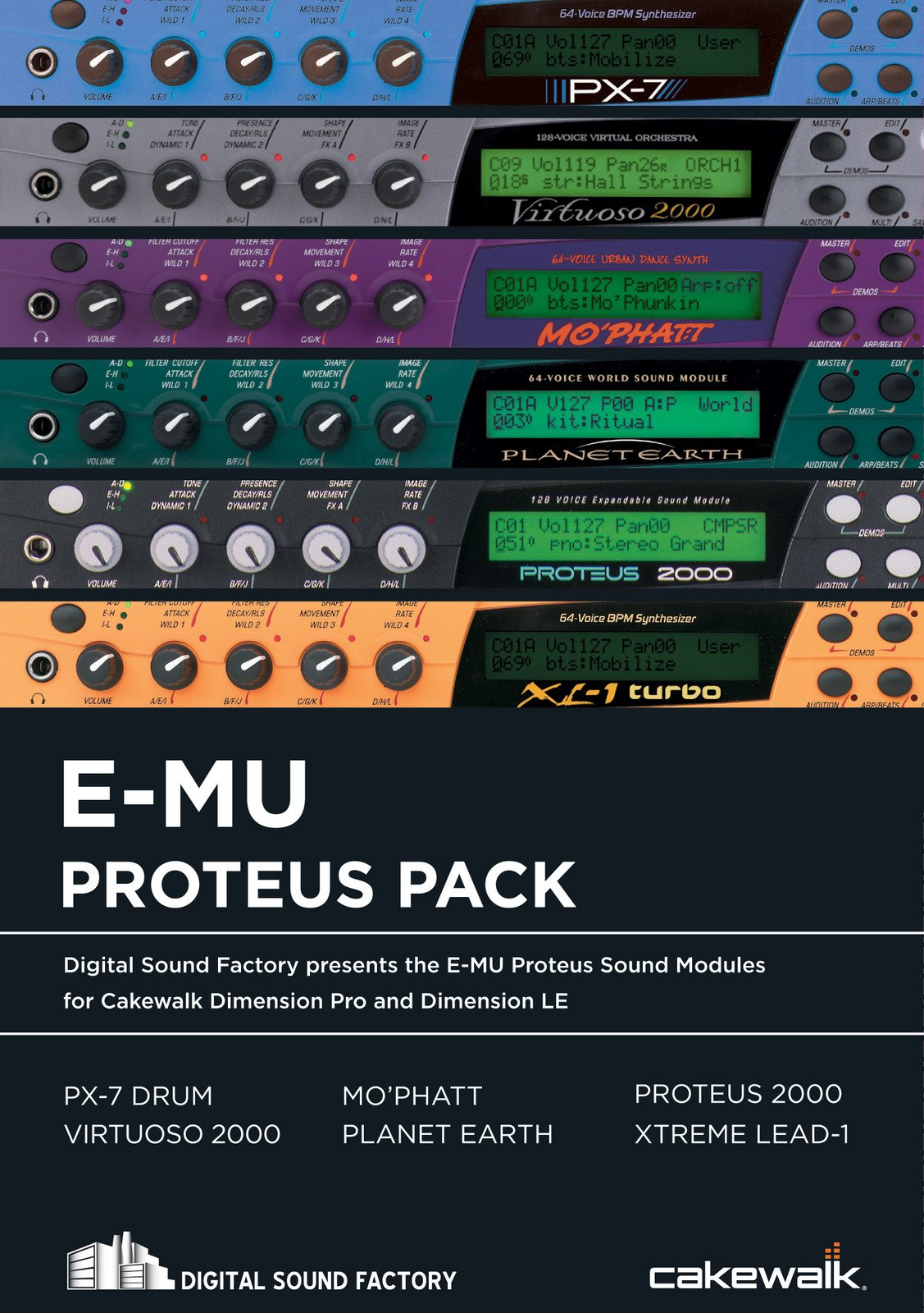 Cakewalk Proteus Pack For Dimension Complete Collection Sweetwater The Electronics Design System Image 1