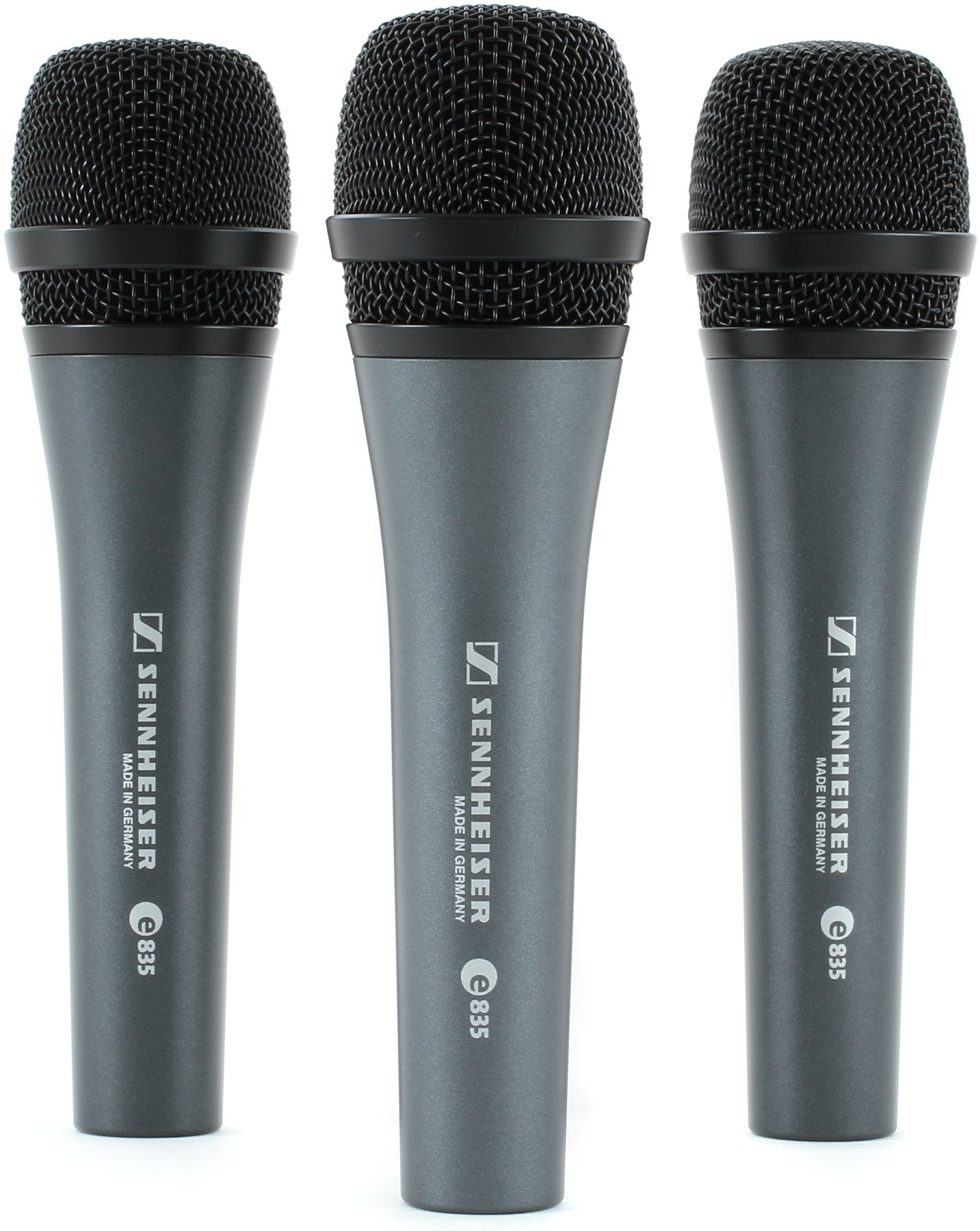 Sennheiser E835 Live Vocal Microphone 3 Pack Sweetwater E935 Image 1