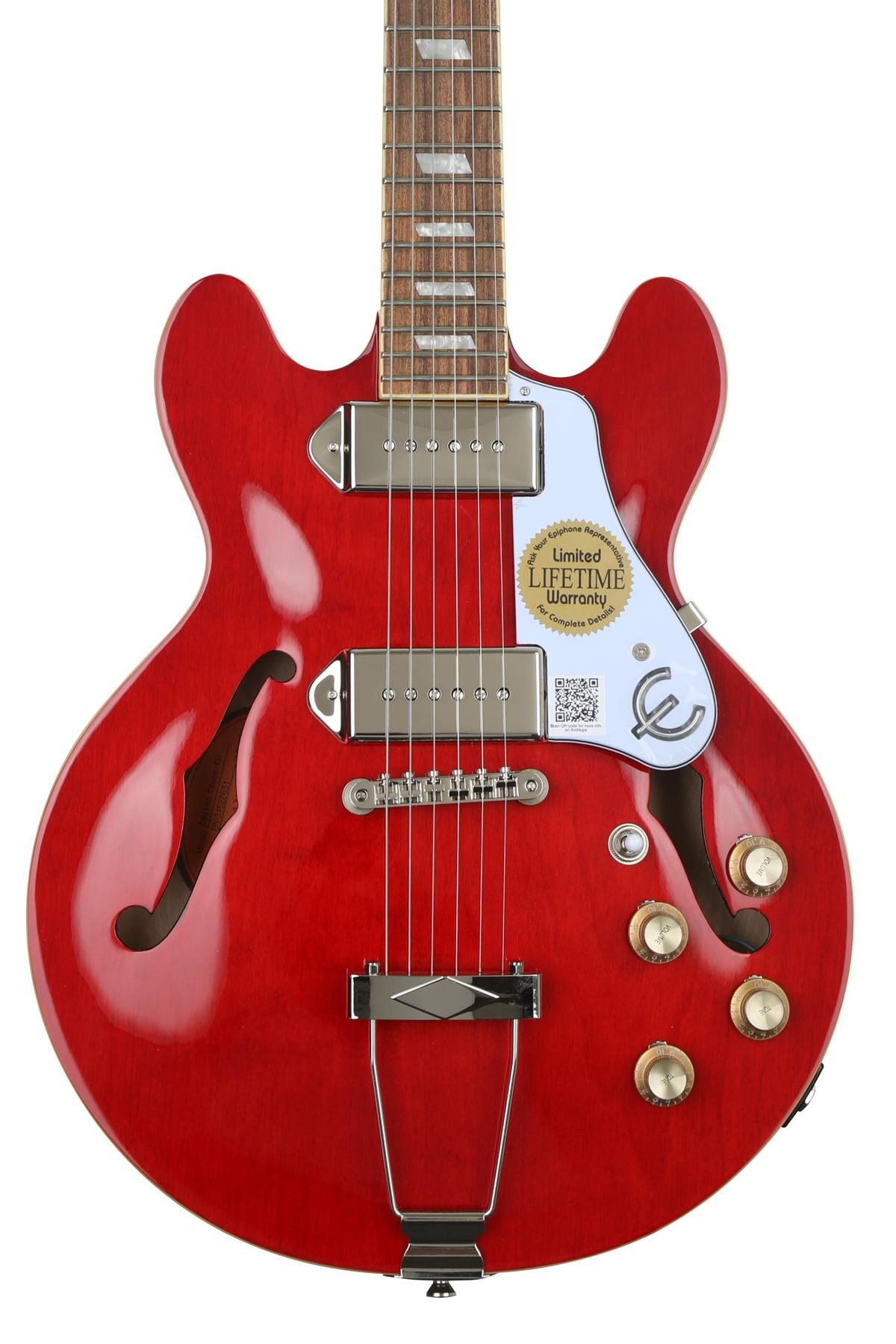 Epiphone Casino Coupe Hollowbody Electric Guitar Cherry Sweetwater