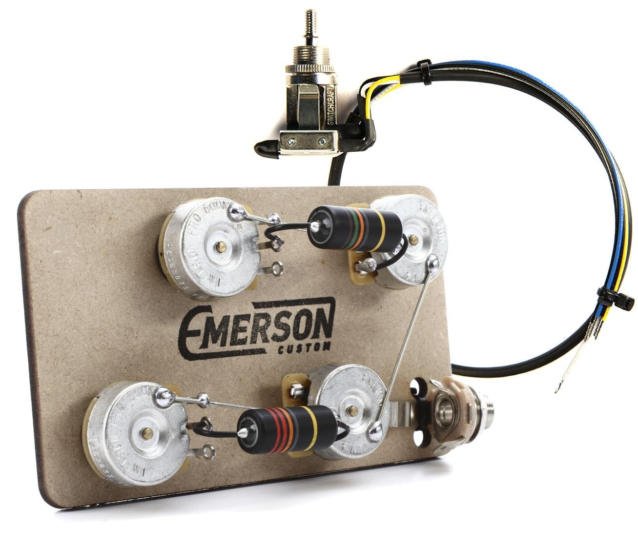 Emerson Custom Prewired Kit For Les Paul Guitars Long Shaft With Switchcraft 3 Way Switch Wiring Diagram