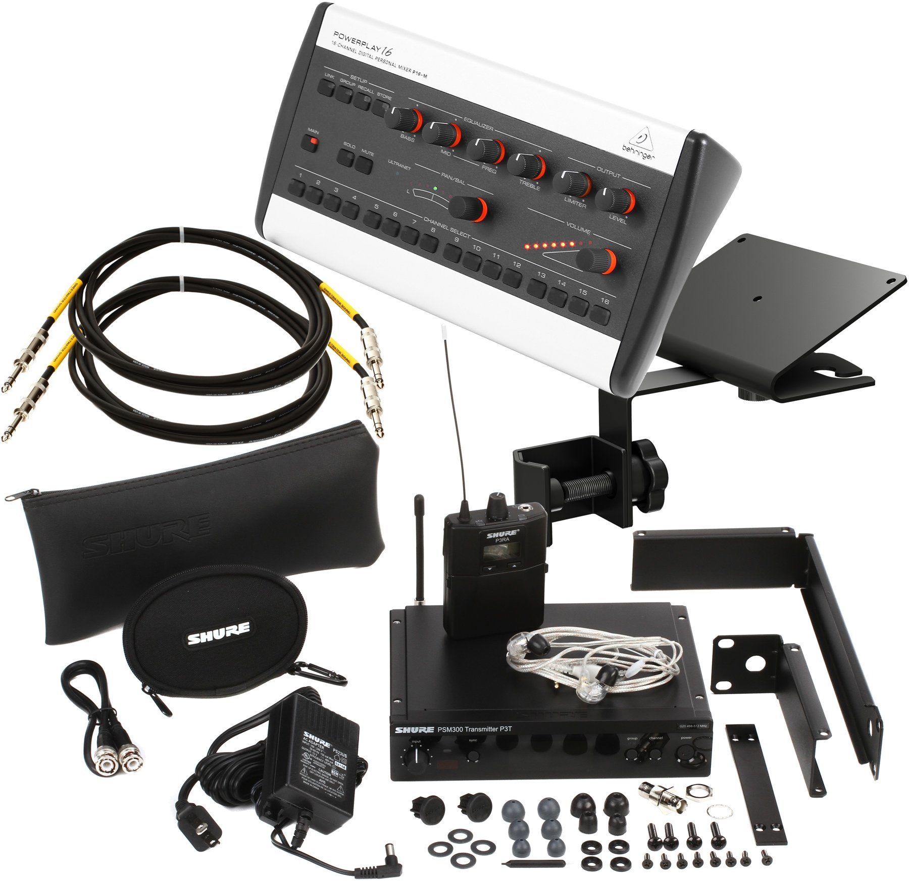 Shure Psm300 Pro Wireless In Ear Monitor System With P16m Sweetwater X32 Rack Live Performance Setup S16 And P16 Image 1