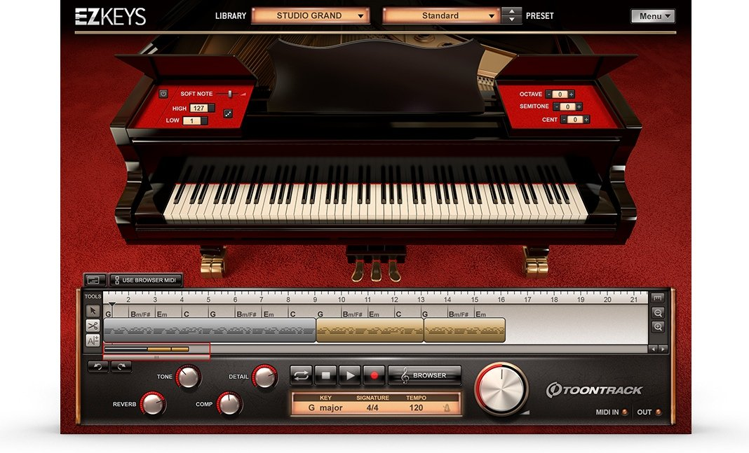 Toontrack Ezkeys Studio Grand Songwriting Software And Virtual Grand Piano Download Sweetwater