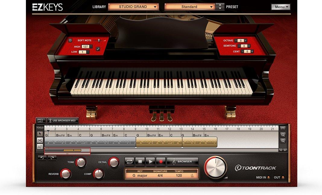 Free computer keyboard piano simulator.