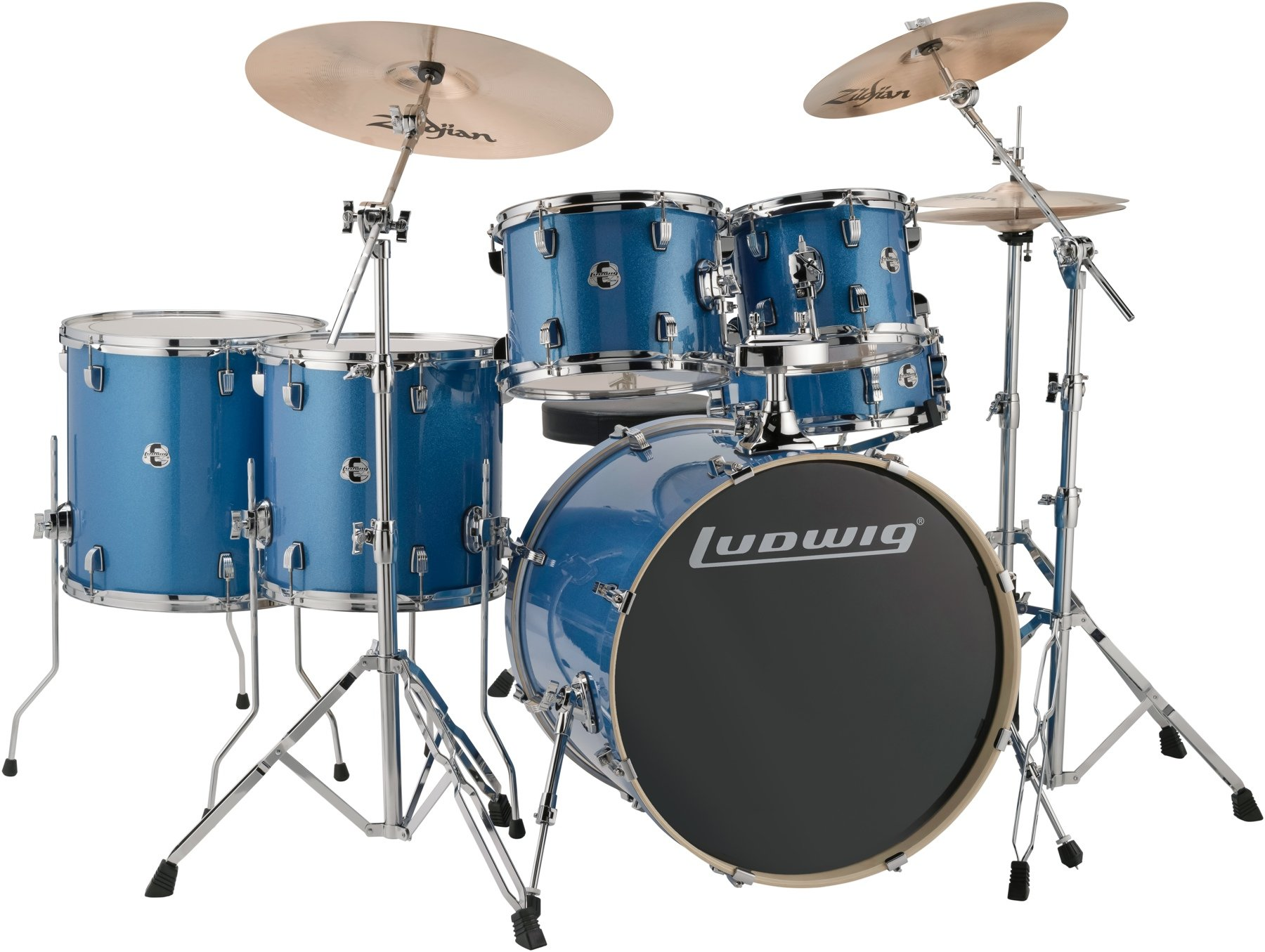 Ludwig Element Evolution 6-pc Drumset with Zildjian ZBT Cymbals - 22 ...