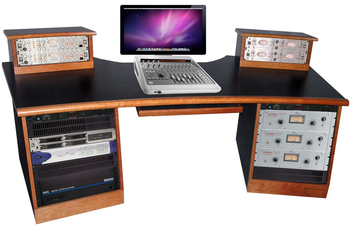 Sound Construction Digistation Recording Studio Desk Cherry Image 1