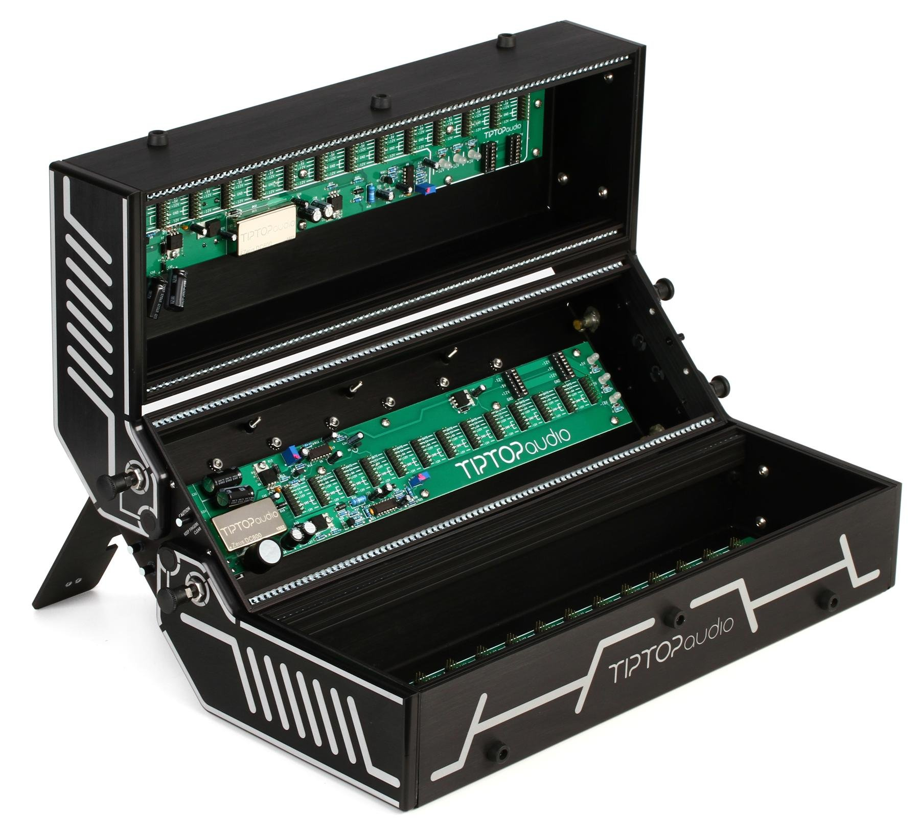 Tiptop Audio Station 252 Folding Eurorack Case Black Widow Computer Geek Circuit Board Green Magnetic Picture Frame Image 1