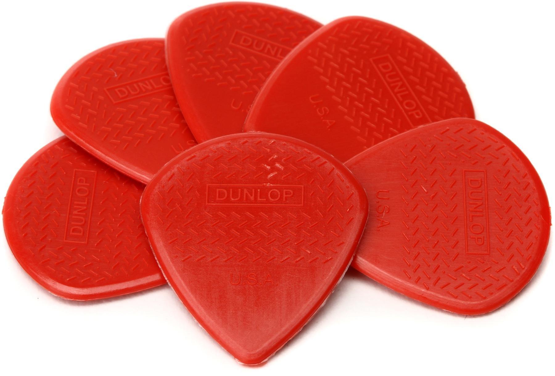 6 Pack Carbon Fiber Jim Dunlop 471P3C Max-Grip Jazz III Nylon Guitar Pick