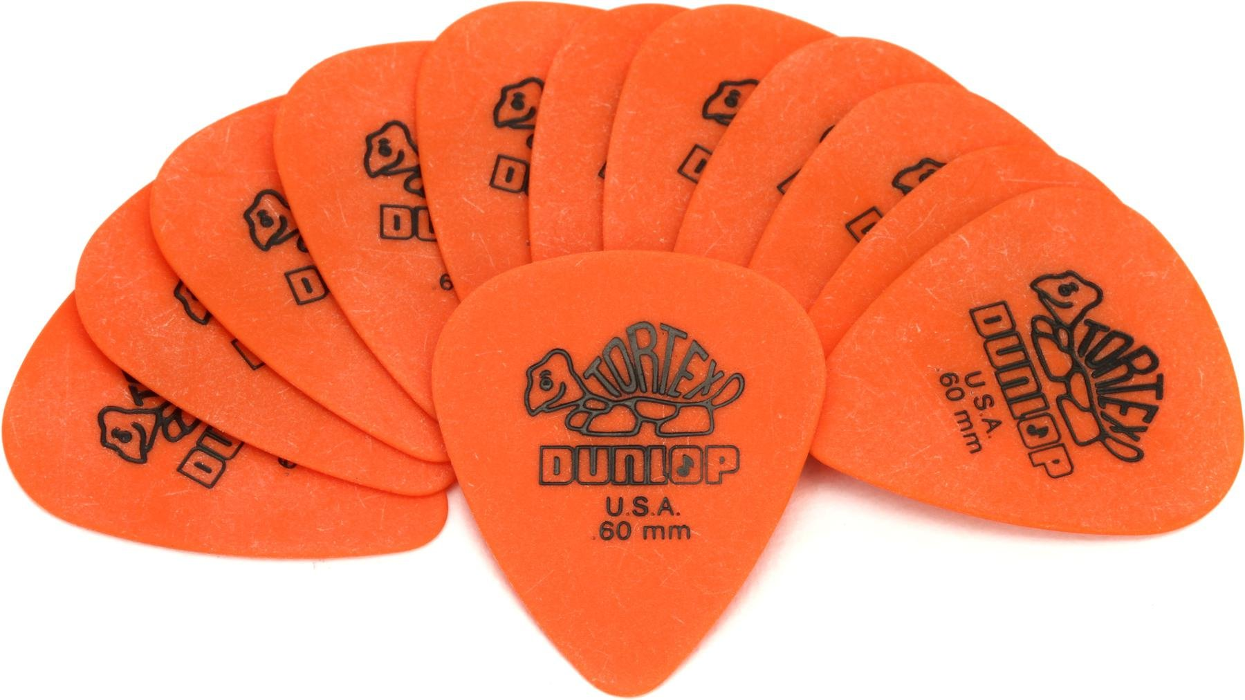 Dunlop Standard Tortex Guitar Picks Orange .60 mm 12-pack Acoustic or Electric