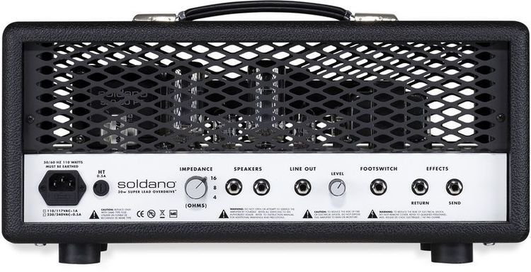 e889b4 ~edited slo30bm detail01 - Soldano SLO-30 Super Lead Overdrive 30-watt Tube Head-Purple