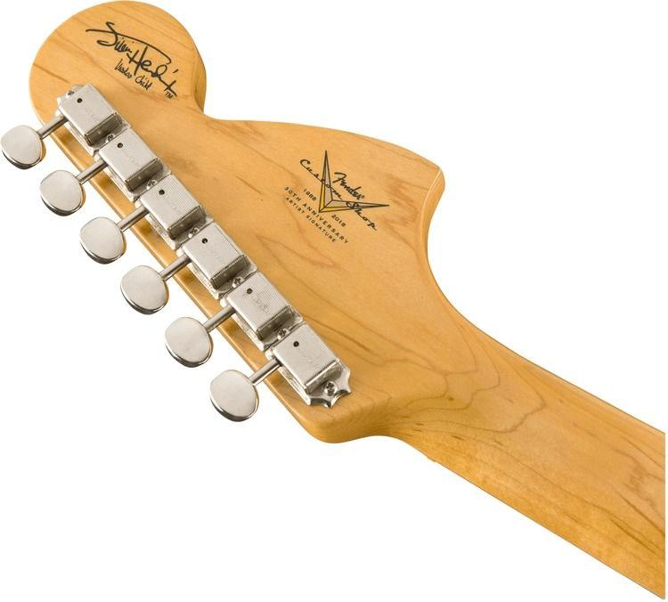 428f5a 1510682805 gtr hdstckbck 001 nr - Fender Custom Shop Jimi Hendrix Voodoo Child Stratocaster, Journeyman Relic Olympic White