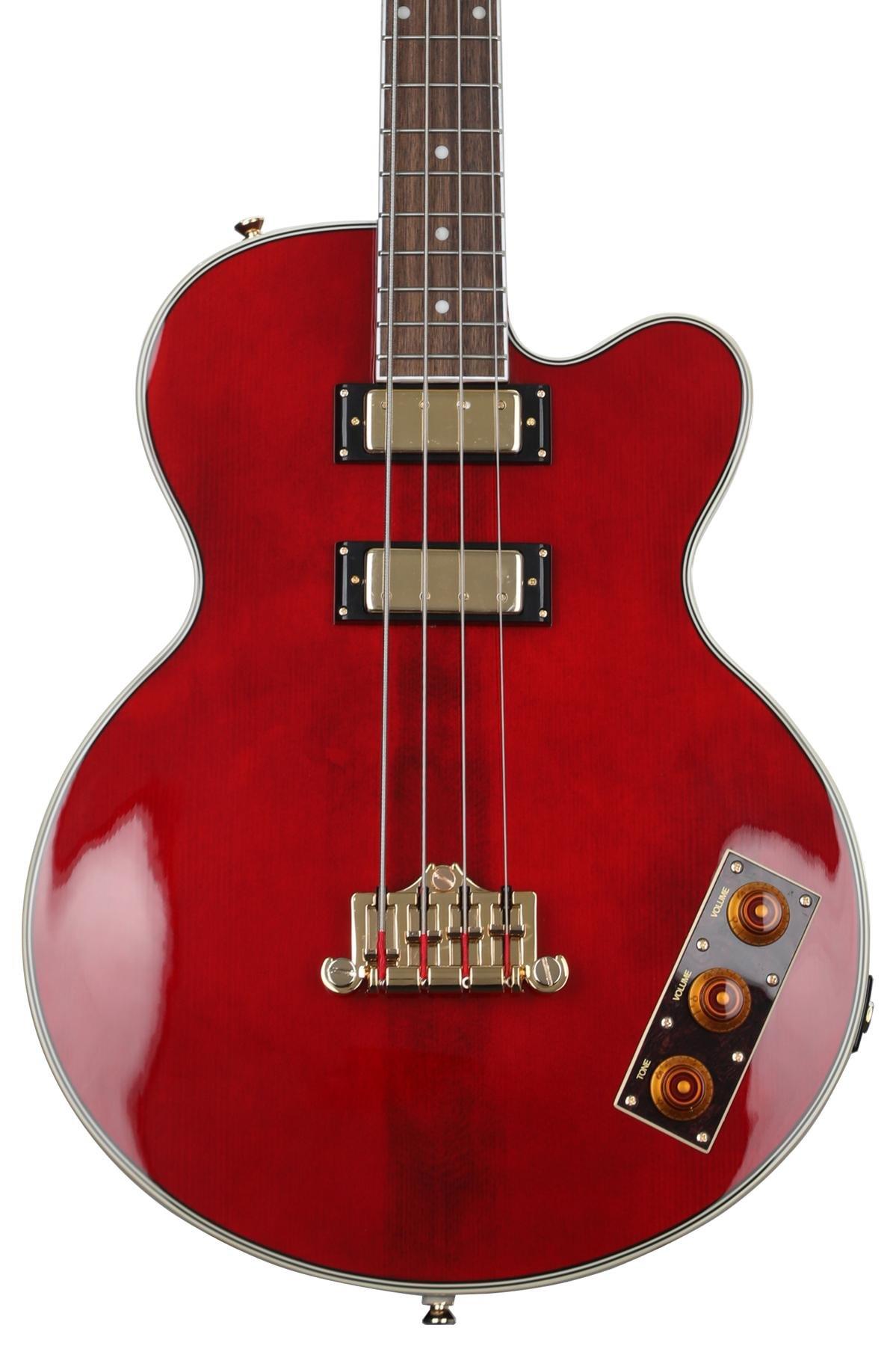 Epiphone Allen Woody Rumblekat Artist Series Bass Guitar Wine Red Sweetwater